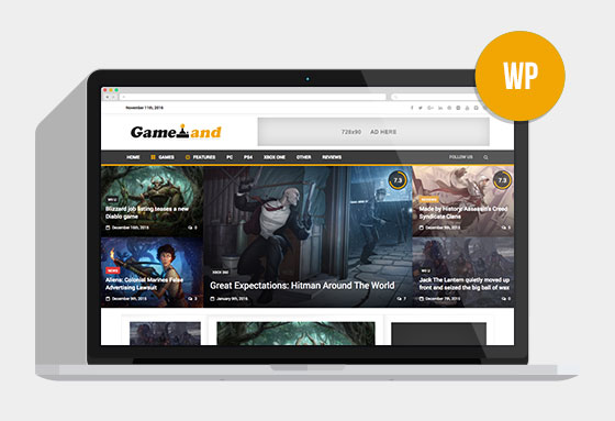 NewsGamer – Premium WordPress News / Magazine Theme